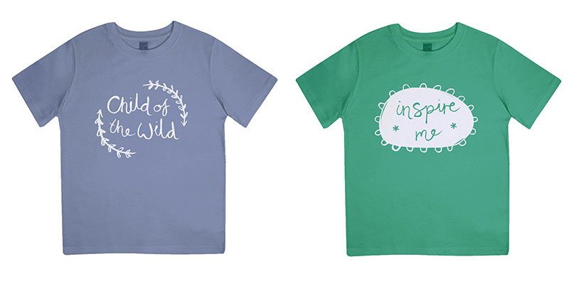 An organically grown t-shirt range
